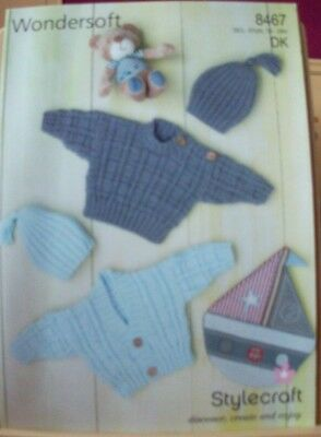 Original A4  Stylecraft  Double Knitting Sweater, Cardigan And Hat - 8467