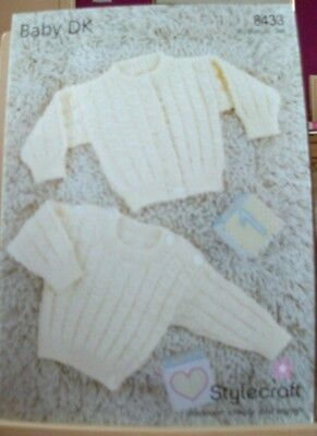 Original A4  Stylecraft  Double Knitting Sweater And Cardigan - 8433