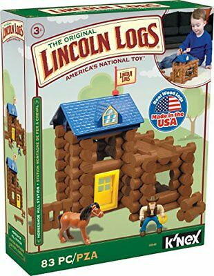 LINCOLN LOGS – Horseshoe Hill Station – 83 Pieces – Ages 3+ Preschool...