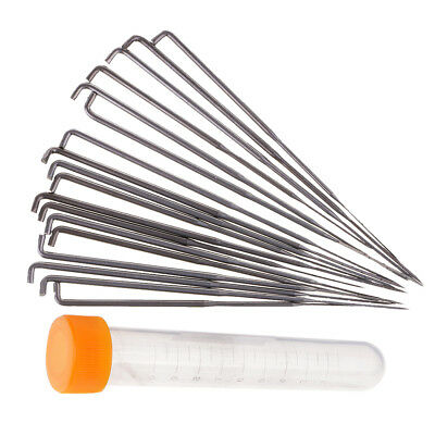 18x Punch Needles for Cross-Stitch Hand Embroidery Felting Needle Sewing Kit