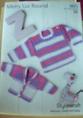 Original A4  Stylecraft  Double Knitting Sweater And Cardigan  - 8473
