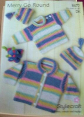 Original A4  Stylecraft  Double Knitting Sweater And Cardigan  - 8472