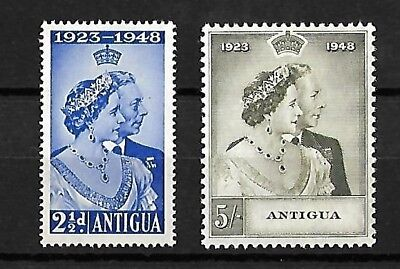 Antigua - 1948 Silver Wedding Set - H/Mint