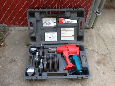 Ridgid 320e Propress tool  w/6 Jaws  in case great working condition NICE!!!!!