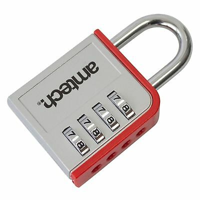 4 Digit Zinc Alloy 50 Mm Heavy Duty Combination Padlock Padlocks Hardened Uk Pro