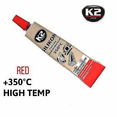 K2 High Temperature Heat 350 C Resistant Red Silicone Sealant Adhesive Glue 21 g