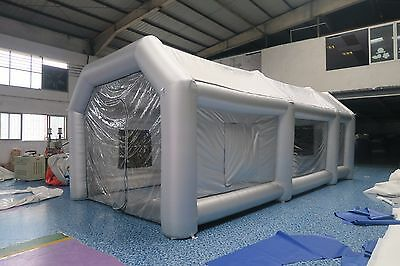 Giant Car Workstation Inflatable Paint Tent Spray Paint Booth Custom w/ Fan