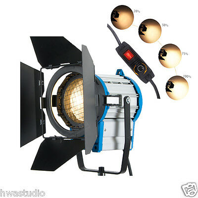 1000W Fresnel Tungsten Spot light Video+Barndoor+Broken Dimmer
