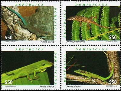 Dominican Republic Frogs Block of 4 MNH 2016