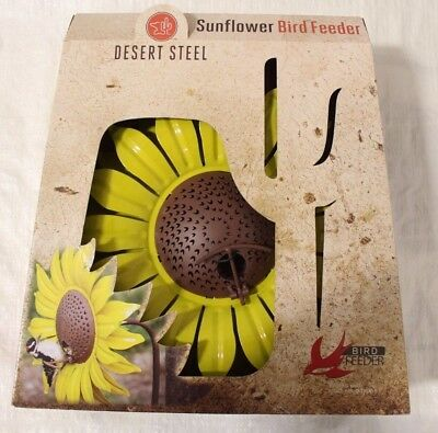NEW 409-103 Desert Steel Sunflower Wild Bird 16 oz. Steel Decorative Bird Feeder