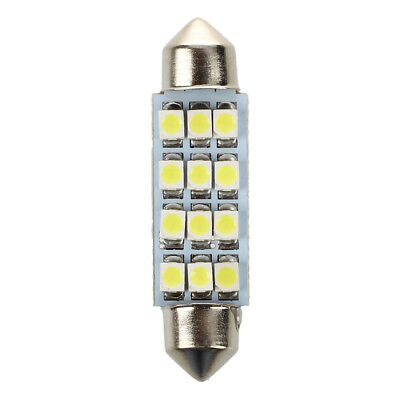 2pcs 1210 SMD 12lampe plaque immatriculation blanc lumiere voiture LED 42mm O4W7