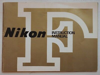 Original instruction manuals for Nikon F and the FTn Photonic Finder