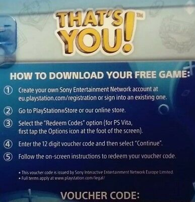 That's You - PS4 PlayStation 4 - FULL GAME Digital Code