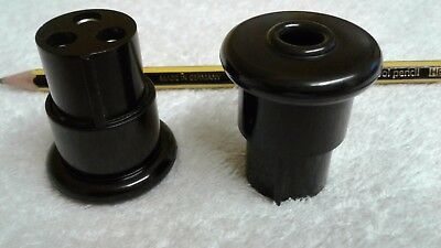 Pair of vintage 22mm Bulgin plugs/sockets. Connectors, radio, electronics, hobby