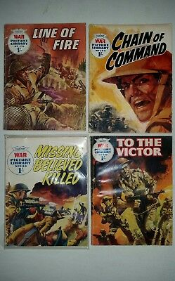 War picture library comics x 4