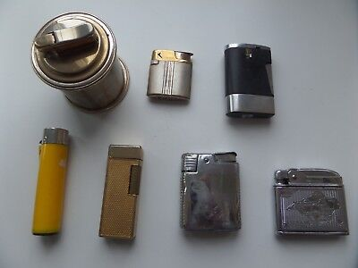 vintage lighters,mixed lots,mosda, ronson,callibri 7 in total