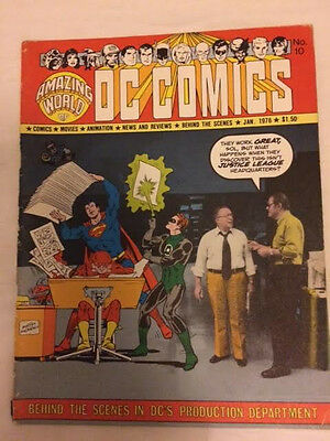 The Amazing World of DC Comics # 10 Sol Harrison & Jack Adler 1976, RARE