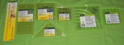 7 OmniGrid Non-Slip Ruler Ultimate accuracy LOT square triangle quilting sewing