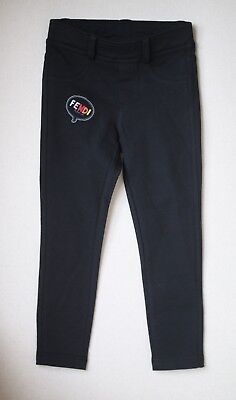 Fendi Girls Black Leggings 3 Years