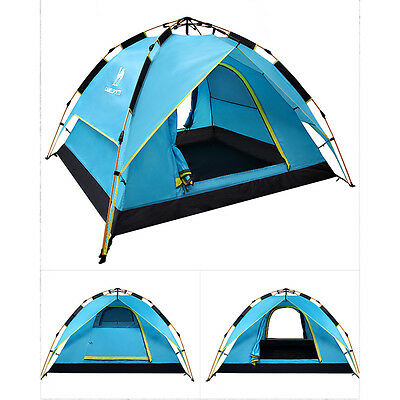 Instant Automatic Instant Pop Up Family Tent Camping Double Layer Hiking Tent UK