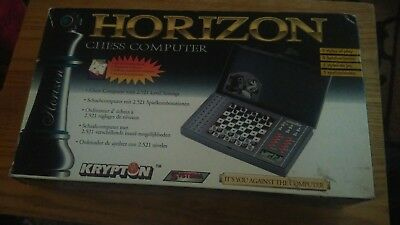 HORIZON CHESS COMPUTER in original box with instructions