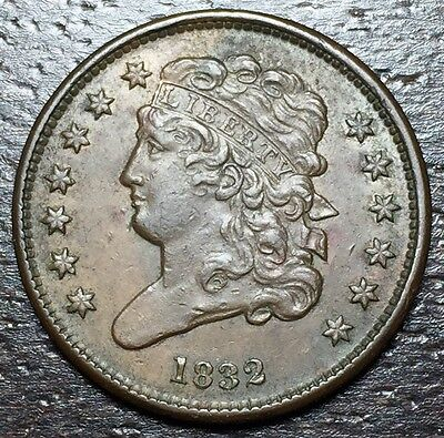 1832 Classic Head Half Cent --  MAKE US AN OFFER!  #Y8569
