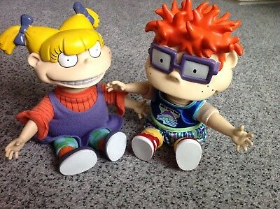 Tommy & Angelica Rugrats Vintage Dolls 1997 Viacom. Very Rare.