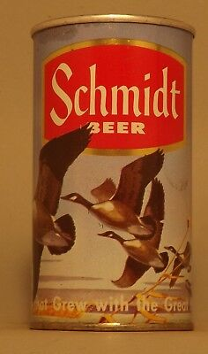 ZIP TAB INTACT! Gorgeous Schmidt Geese Beer Can - St. Paul, MN - No Reserve!
