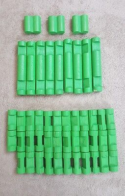 Lincoln Logs 24 Assorted Green Pieces