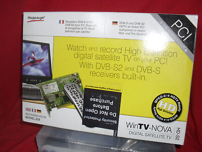 Hauppauge WINTV NOVA-S2 HD DVB-S2 PCI - PC Satellite Sat TUNER Boxed