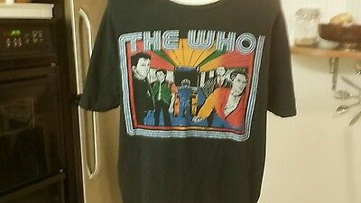 The Who Bids Farewell Tour Shirt Used T Shirt Size  Extra Large