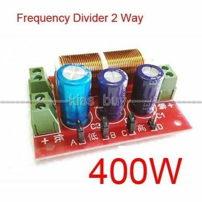 400w stable Treble/Bass Frequency Divider 2 Way Speaker Crossover Filters (S90)