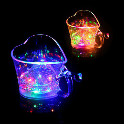 7 Colors Liquid Led Champagne Drinking Glass Flash Cup Club KTV Lovers