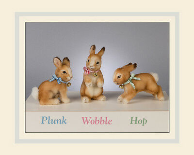 R. John Wright Plunk Seated Bunny Doll Collectible USA Made