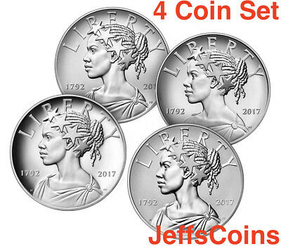 2017 P D S W American Lady Liberty 225th Anniversary SILVER Medal 4oz 99.9% 17XD