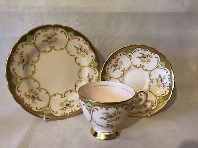 Superb  Vintage Tuscan Tea Trio Beautiful Colours & Design