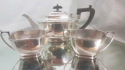 A vintage silver plated tea set by harrison brothers of sheffield.