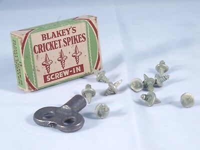 Blakeys Vintage Screw-in Cricket Spikes in Box with Tool