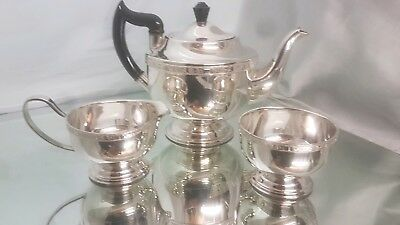 A beautiful vintage silver plated tea set by viners of sheffield.very ornate.