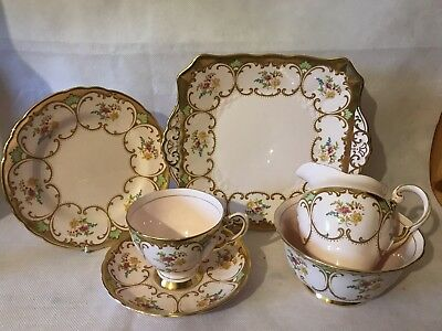 Superb Vintage Tuscan 6 Piece Tea Set L@@k !!