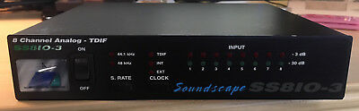 Soundscape SS8IO-3, 8 Channel Analog TDIF Interface (SS810-3)
