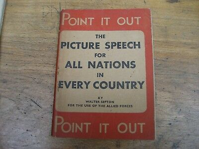 WW2 Point It Out, War Office publication for Allied troops manual, D-Day etc
