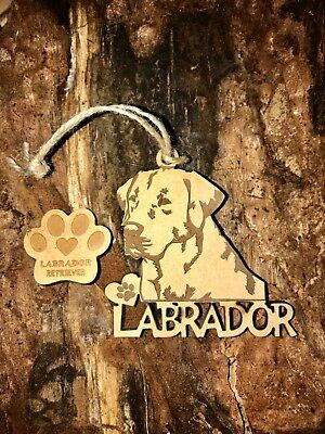 Labrador Retriever Christmas Ornament & 2 FREE MAGNETS
