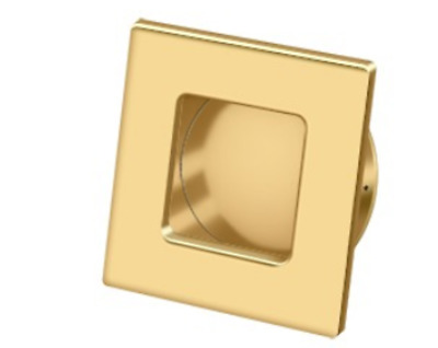 """FPL Flush Pull Solid Brass Square HD 2-3/4"""" x 2-3/4"""" x 7/16"""" Brass 11 Finishes"""