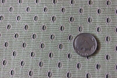 Antique French 19thC Green Patterned Silk Brocade Sample Fabric~Home Dec,Dolls