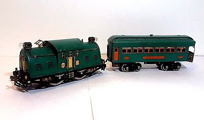 Lionel Lines, PREWAR - 10E PEACOCK Trolley / Engine & 341 Observation car.