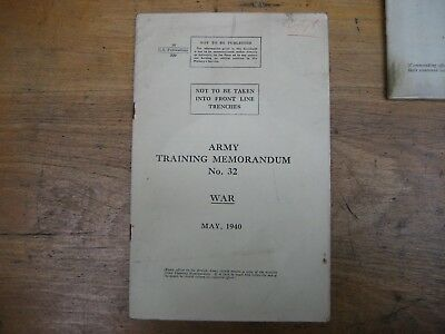 1940 Army Training Memorandum No.32