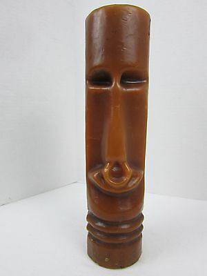 Vintage Tiki Candle Island Bar Light Nose Ring Moai