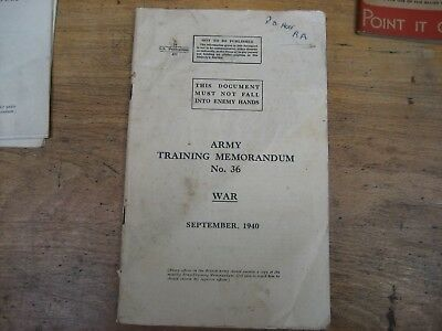 1940 Army Training Memorandum No.36