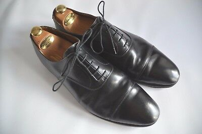 Foster & Son 1546 Cap Toe Black Leather Vintage Oxfords - Uk 13E / Us 14 / Eu 47